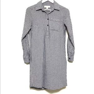 Michael Kors Plaid Button Down Shirt Dress XS